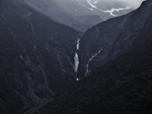 Waterfalls are aplenty after the rain in Aoraki Mt Cook national park....