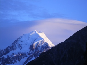 Aoraki Mt Cook- sometimes creates strange cloud formations