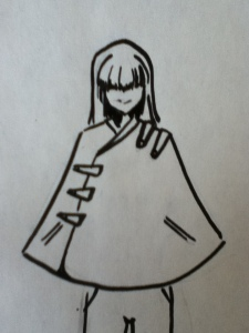 Military Cape. I would love to make one just like this one day.. Also the girl's smile is very mischievous looking...don't you think?