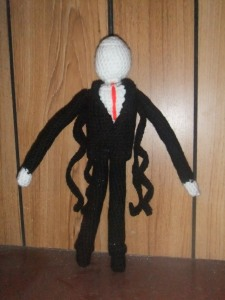 My crochet slenderman- on my first attempt!