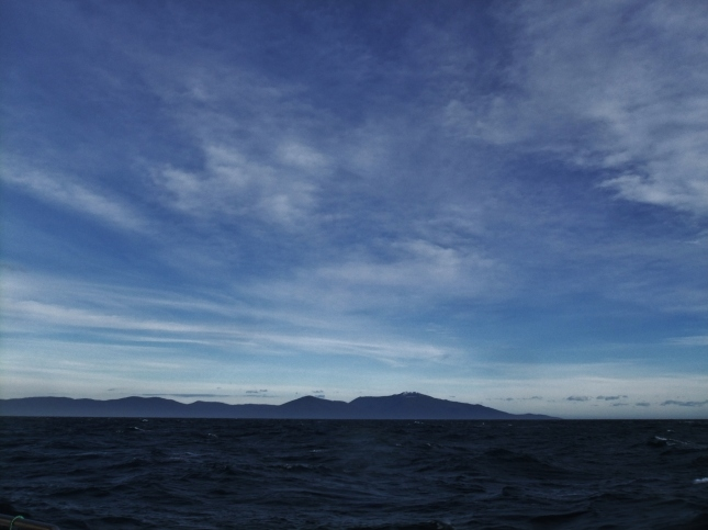 View of Stewart island from Ferry